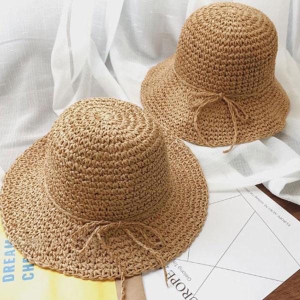 女の子用麦わら帽子