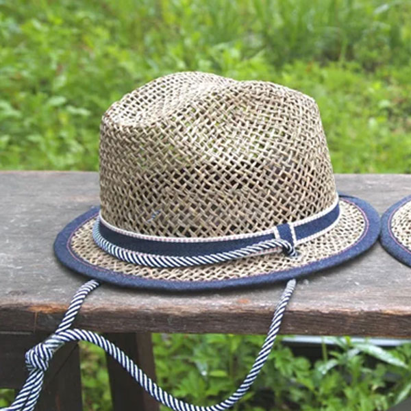 男の子用麦わら帽子