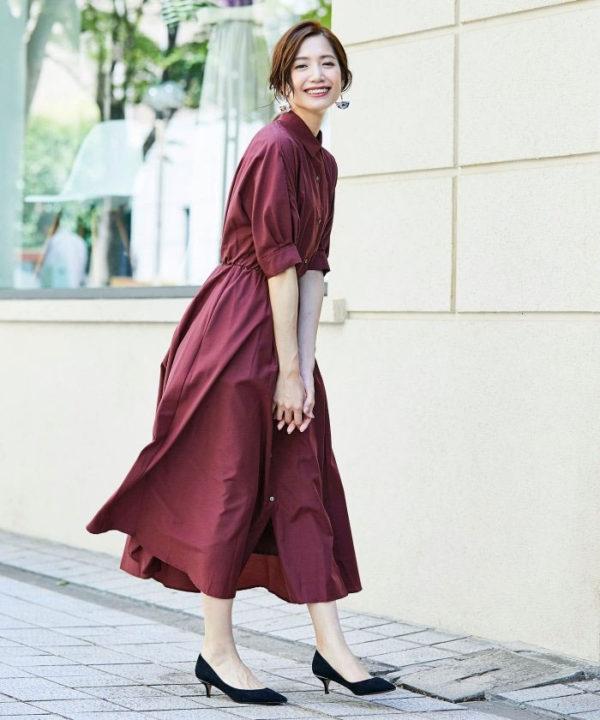 バルーン袖ワンピース