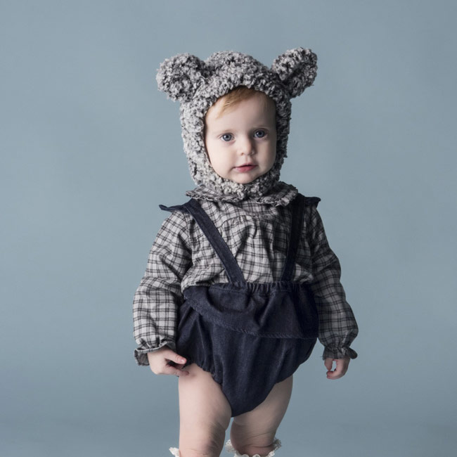 女の子ベビー帽子